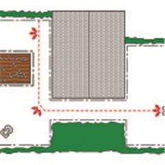 Drei verschiedene Startpunkte Sie erhalten ein einheitliches Schnittergebnis auf dem gesamten Rasen dank der Möglichkeit, das Mähen an zwei verschiedenen Stellen entlang des patentierten Führungskabels, ausgehend von der Ladestation, zu starten. Je größer die Grasfläche, desto besser und umso wichtiger sind mehrere Startpunkte. Bei aktiver GPS-gestützter Navigation (bestimmte Modelle) werden die Startpunkte automatisch eingerichtet, und manuelle Einstellungen sind nicht erforderlich.