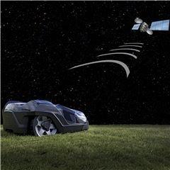 GPS-unterstütze Navigation Ein GPS-Modul erfasst die Fläche des Gartens innerhalb des Begrenzungskabels.