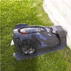Wetter Timer Der Automower® 320/330X kann bei Aktivierung des Wettertimers seine Mähzeit an das Rasenwachstum anpassen. Bei geringer Wachtstumsphase reduziert er seine Mähzeit automatisch. Dies schont Mäher und Rasen.