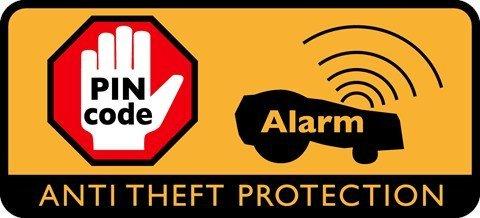 Diebstahlalarm Der zuschaltbare Diebstahlalarm sorgt für die Sicherheit Ihres Mähers.