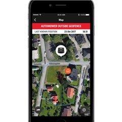 Diebstahlschutz durch GPS Produkte, die mit Automower Connect® / Husqvarna Fleet Services™ ausgestattet sind, beginnen sofort, ihre GPS-Position zu verfolgen und Benachrichtigungen an Ihre Geräte zu senden. Macht die Automower® Installation besonders sicher und minimiert das Risiko von Diebstahl.
