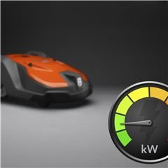 Niedriger Energieverbrauch Ein effektives Energiemanagement sorgt für geringen Energieverbrauch, so dass Automower® zu einem Bruchteil der Betriebskosten eines konventionellen Rasenmähers betrieben werden kann.