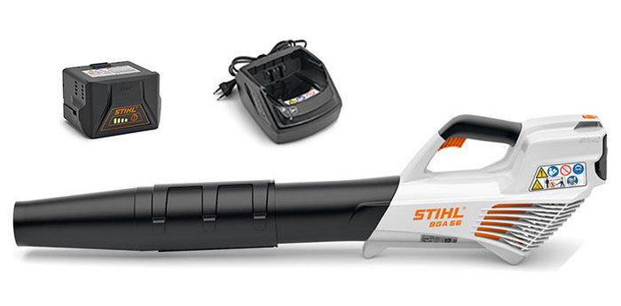 Laubbläser:                     Stihl - BGA 56 Set inkl. 2 x AK 20 & AL 101