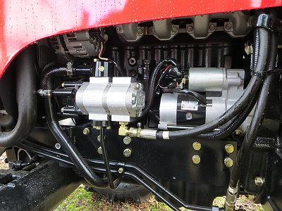 Doppelpumpe für die Hydraulik, dadurch immer genügend Leistung für die Hydraulikkomponenten.