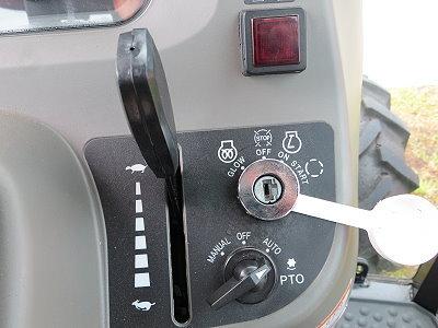 Zapfwelle mit 540/1000 U/min, unter Last schaltbar mit Zapfwellenautomatik.