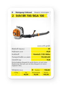 Mieten  Laubbläser: Stihl - BR 700 / BGA 100 (mieten)