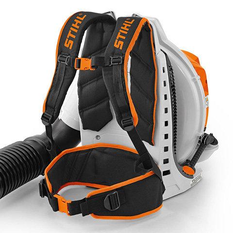 Ergonomisches Tragesystem: Das hochwertige, ergonomische Tragesystem mit s-förmigen Schultergurten, Brustgurt und Hüftgurt sorgt für hohen Arbeitskomfort.