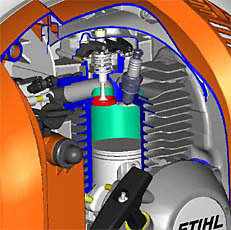 STIHL 4-MIX®-Motor: Kombiniert die Vorteile aus 2-Takt- und 4-Takt-Motor. Weniger Abgase, kein Ölservice nötig, angenehmes Klangbild. Excellente Durchzugskraft und hohes Drehmoment. (Abb. ähnlich)