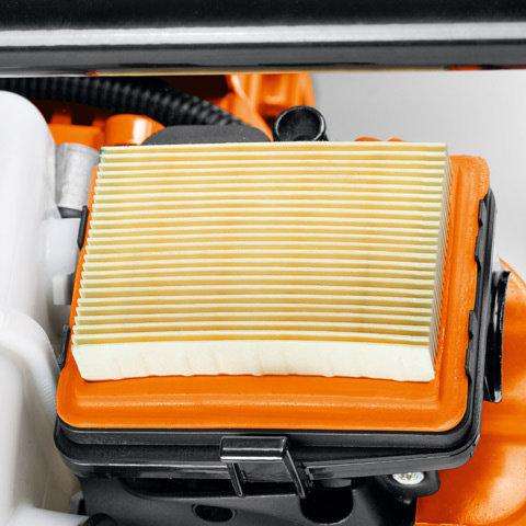 Langzeit-Luftfiltersystem  Das Langzeit-Luftfiltersystem bietet zusammen mit dem in den Vergaser integrierten Kompensator lange Reinigungsintervalle und zuverlässigen Triebwerkschutz.