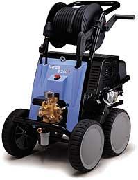 Kaltwasser-Hochdruckreiniger:                     Kränzle - B 230 T mit Turbokiller, Fahrgestell, Schlauchtrommel, Drehzahlregulierung