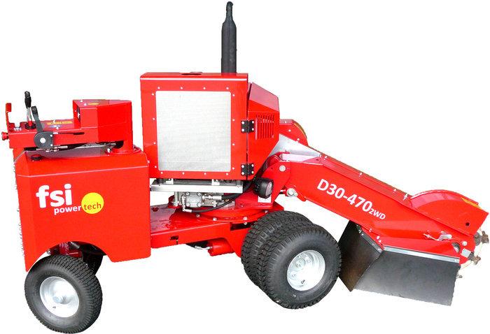 Mieten                                          Stubbenfräsen:                     FSI power-tech - Baumstubbenfräse D30-470 (mieten)