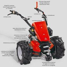 Einachsschlepper: Agria - 3400 Diesel E-Start (Grundmaschine ohne Anbaugeräte)
