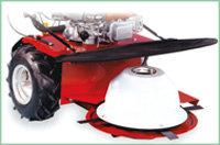 Optionales Anbaugerät: Kreiselmähwerk 60 cm Schnittbreite Schnitthöhe von 45 - 80 mm