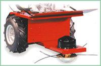 Optionales Anbaugerät: Nylonfadenmähwerk 60 cm Schnittbreite Schnitthöhe von 25 - 45 mm