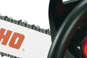 optimierter Sägespanauswurf  Der optimierte Sägespanauswurf ermöglicht einen besonders effizienten Sägespan-Auswurf. Späne werden sauber ausgeworfen, so dass kein Sägespanstau entsteht.