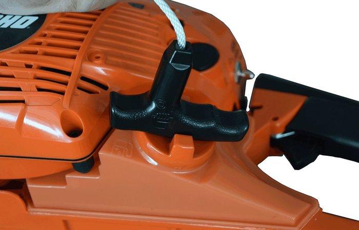 Tankdeckel mit Startergriff leicht zu öffnen  Der Tankdeckel lässt sich durch den Startergriff besonders leicht zu öffnen.