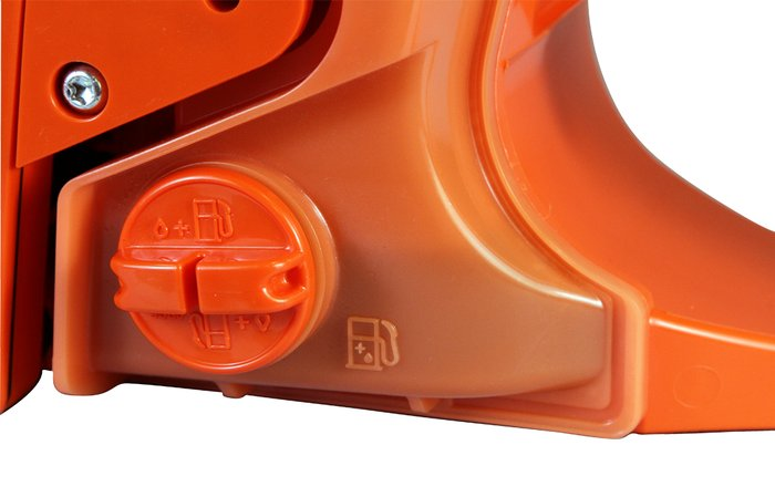 halbtransparenter Kraftstofftank -  Durch den haltransparenten Kraftstofftank, kann der Füllstand des Tanks jederzeit einfach kontrolliert werden.