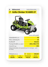 Mieten Geländemäher: Grillo - Climber 10 AWD 27 (mieten)
