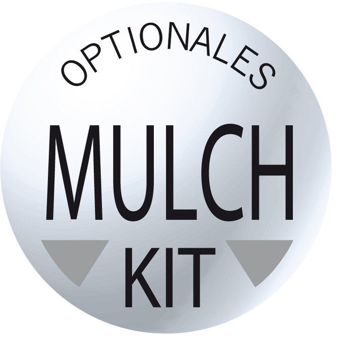 Optionales Mulchkit erhältlich.
