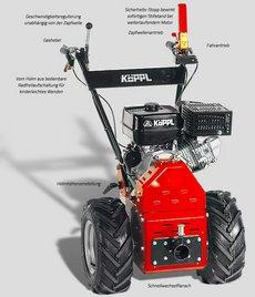 Einachsschlepper: Köppl - Luchs-Hydro -2 / LHR 14-2 (Grundgerät ohne Räder und Anbaugeräte)