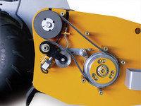 Schnellstopgeinrichtung, bringt die Rotorwelle nach dem Abschalten des Antriebs sofort zum Stillstand.
