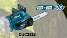 Top-Handle-Sägen: 								Makita - DUC122Z