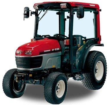 Kompakttraktoren:                     Yanmar - EF 235H mit Rasenbereifung und Kabine