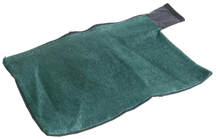 optionaler Nassfangsack -  Lässt die Feuchtigkeit zur Seite austreten, schützt den Bediener des Saughäckslers vor Nässe und Verschmutzung.