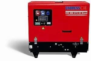 Stromerzeuger:                     Endress - ESE 608 DYS ES Diesel Silent (230V)