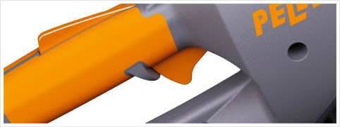 Progressiv steuernder Schalter: Der Drücker dient zur genauen Anpassung der nötigen Leistung.