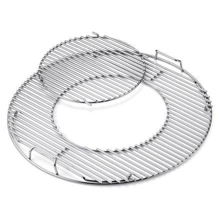 Grillhelfer:                     Weber-Grill - Edelstahl Grillrost mit Grillrosteinsatz 57cm Kugelgrill (Art.Nr. 8843)