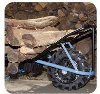 Das Modell MB SK verfügt über einen für den Holztransport entwickelten, robusten Stahlrahmen. Die Schweizer Karre ist der Helfer für den Holzbauer.