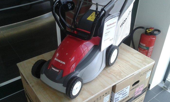 Gebrauchte                                          Elektrorasenmäher:                     Honda - Elektromäher HRE 330 (gebraucht)
