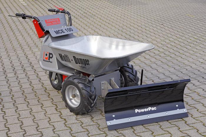 PowerPac Elektroschubkarre mit Schneeschild 85cm