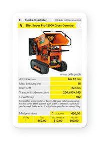 Mieten Gartenhäcksler: Eliet - Super Prof 2000 Cross Country (18 PS) B&S Vanguard mit Raupenantrieb (mieten)