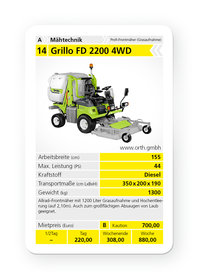 Mieten  Geländemäher: Grillo - FD 2200 4 WD (mieten)