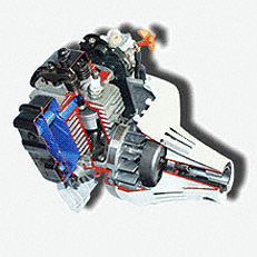 4-MIX-Motor : Kombiniert die Vorteile aus 2-Takt- und 4-Takt-Motor. Weniger Abgase, kein Ölservice nötig, angenehmes Klangbild. Excellente Durchzugskraft und hohes Drehmoment.