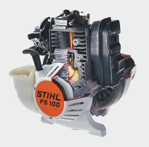 Automatische Dekompression  Das Dekompressionssystem öffnet beim Anwerfen des Motors automatisch das Einlassventil. Da dämpft die Druckspitzen und reduziert den Kraftaufwand am Anwerfseil erheblich. (Abb. ähnlich)
