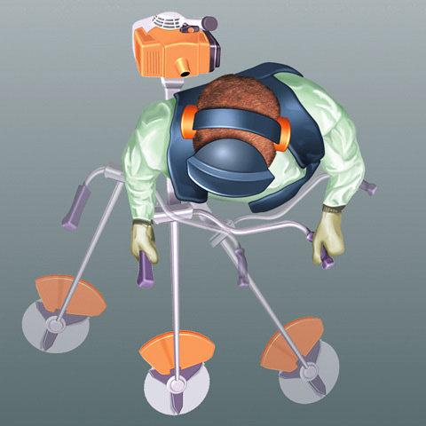 Ergonomischer Zweihandgriff (Mählenker)  Der Zweihandgriff wird auch als ergonomischer Mählenker bezeichnet. Er ermöglicht beim Mähen die natürliche Sensenbewegung und lässt sich mit einer Knebelschraube leicht einstellen und fixieren. Bei Motorsensen und Freischneidegeräten ist der Zweihandgriff immer dann erste Wahl, wenn oft größere Flächen gemäht werden sollen. (Abb. ähnlich)