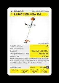 Mieten  Akkumotorsensen: Stihl - FSA 130 (mieten)