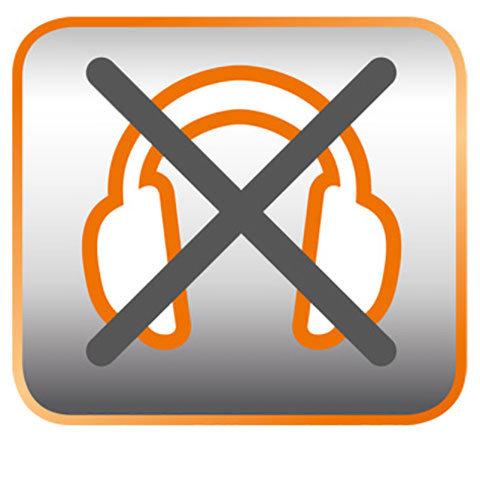 Leiser Betrieb  Die Lithium-Ion Geräte sind so leise, dass kein Gehörschutz notwendig ist.