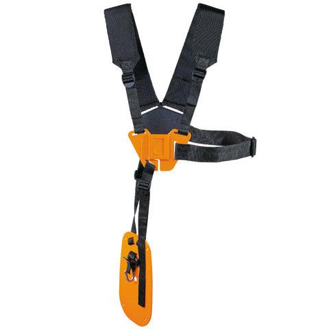 Doppelschultergurt  Serienmäßiger, komfortabler Doppelschulter-Traggurt. Erleichtert durch weiche Polsterung die Arbeit bei Langzeiteinsätzen.