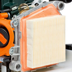 Multifunktionsgriff  Alle Bedienelemente für die Motorsteuerung sind in einer Hand. Dadurch einfache und zuverlässige Bedienung.