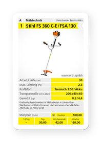 Mieten  Freischneider: Stihl - FS 360 C-E (mieten)