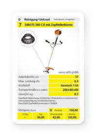 Mieten Wildkrautbürsten: Stihl - FS 360 mit Zopftellerbürste (mieten)