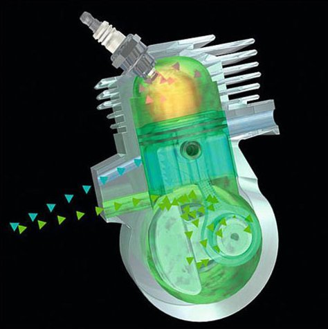 STIHL 2-MIX-Motor mit Spülvorlage  Der STIHL Zweitaktmotor mit 2-MIX-Technik sorgt für starke Leistung, jede Menge Durchzugskraft und spart dabei bis zu 20 % Kraftstoff im Vergleich zu leistungsgleichen STIHL Zweitaktmotoren ohne 2-MIX-Technologie. Er kombiniert einen Vierkanal-Zylinder mit einer Spülvorlage. Auch der Abgasausstoß wird so um bis zu 70 % gesenkt. Die Abgasnorm EU II ist erfüllt. (Abb. ähnlich)