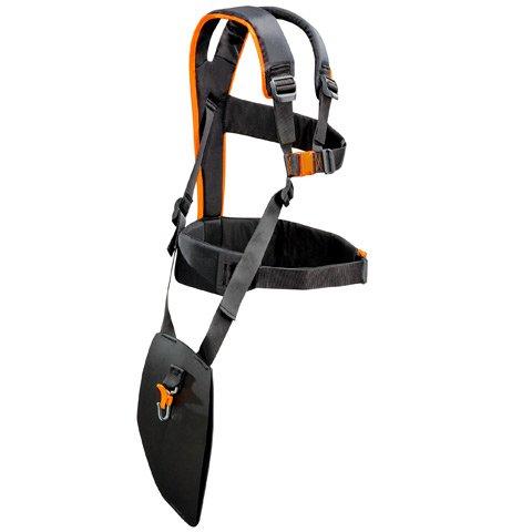 Ermöglicht hohe Bewegungsfreiheit durch frei hängende Beinplatte. Besonders ergonomisch und komfortabel beim Forsteinsatz mit Kreissägeblättern. Sehr leicht. Um Werkzeugrucksack erweiterbar.