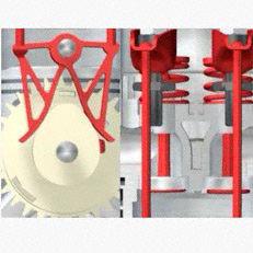 Dekompressionssystem: Das Dekompressionssystem verlängert in der Anwenderphase die Ventilöffnungszeit. Das reduziert den Kraftaufwand am Seil erheblich und ganz automatisch.