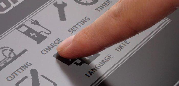 Einfache Touchscreen-Bedienung