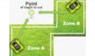 Die Robotermäher ermöglichen die Programmierung von bis zu 4 getrennten Mähzonen.